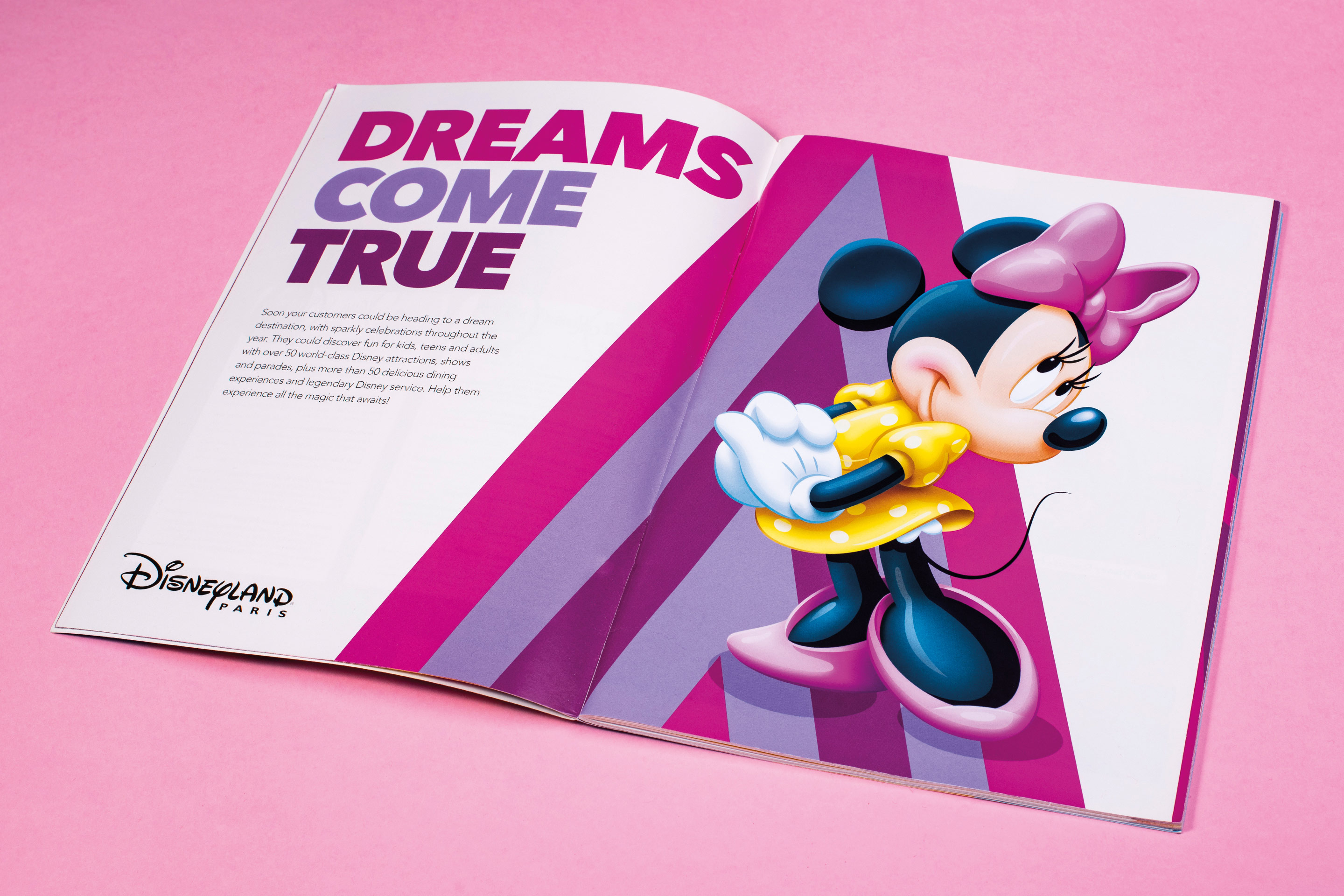 Disney's Travel Agent Guide Minnie Mouse Spread