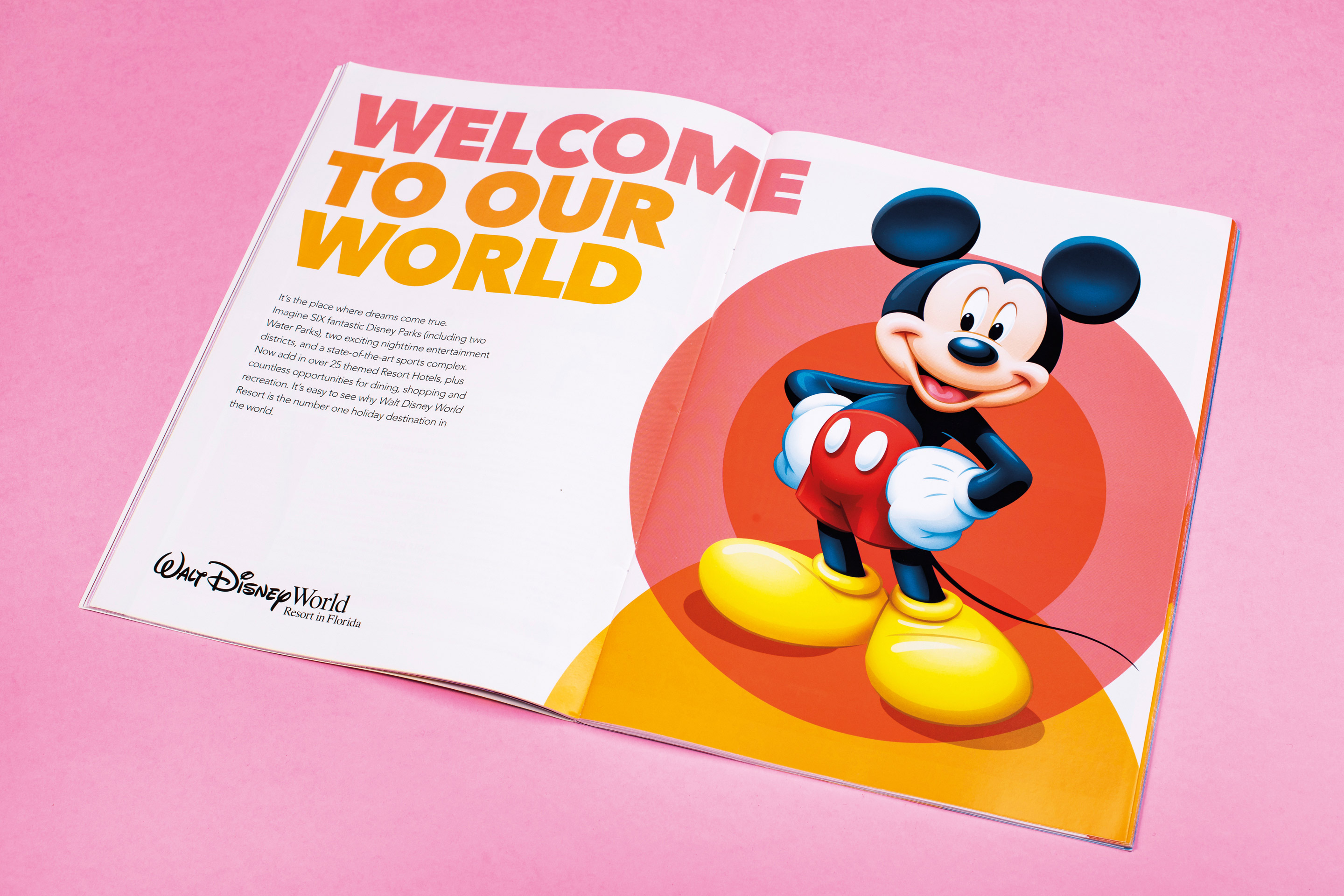 Disney's Travel Agent Guide Mickey Mouse Spread