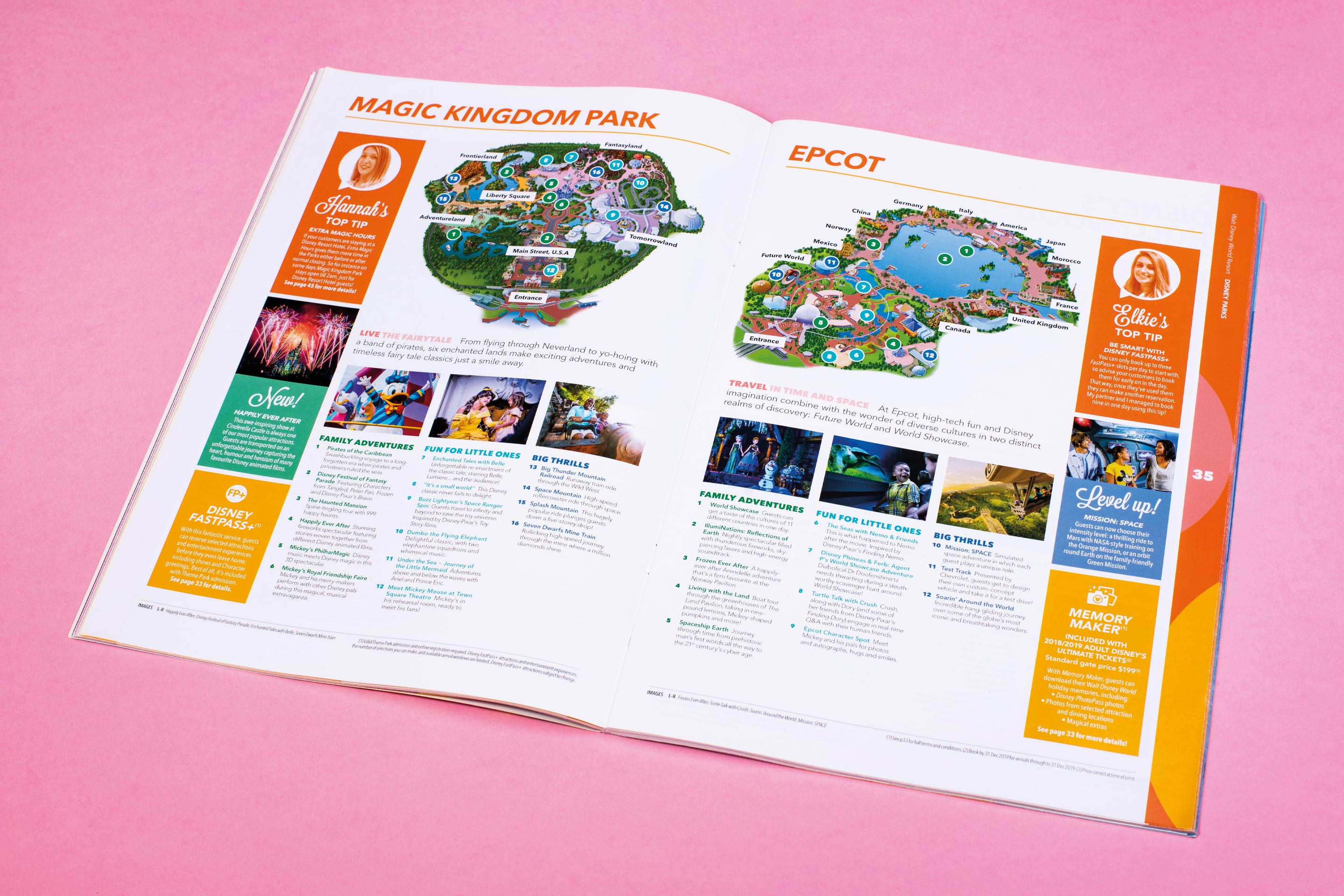 Disney's Travel Agent Guide Parks Spread